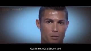 Cristiano Ronaldo phát biểu trong lễ trao giải Cầu thủ xuất sắc nhất châu Âu 2016