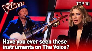 Unique & Surprising instruments in The Voice | TOP 10