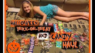 HALLOWEEN TRICK-OR-TREAT AND CANDY HAUL 2016