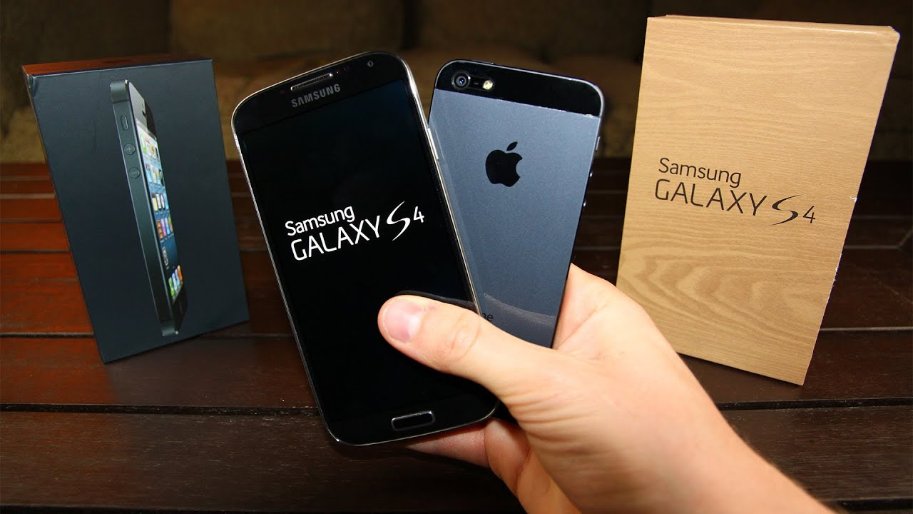 IPHONE 5S COMPARED TO SAMSUNG GALAXY S4