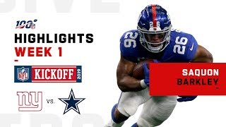 Saquon Barkley Highlights vs. Cowboys | NFL 2019