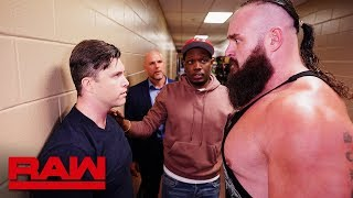 SNL's Colin Jost gets on Braun Strowman's bad side: Raw, March 4, 2019