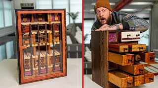 Solving PUZZLE FURNITURE That Belongs in a Museum!!