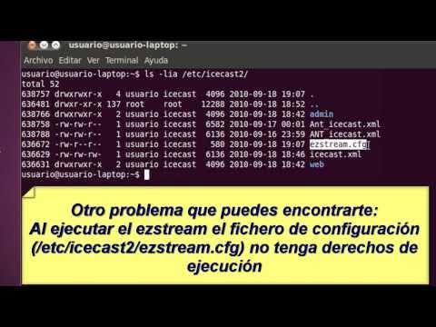 Servidor de Streaming ICECAST + ezstream