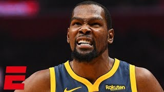 Kevin Durant scores 33 points, fouls out in Warriors' OT loss vs. Clippers | NBA Highlights