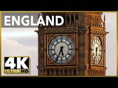 LONDON & ENGLAND Top Tourist Destinations, 4k Ultra HD Stock Video Footage