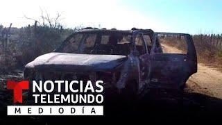 Identifican los cuerpos calcinados hallados en camionetas en Tamaulipas   Noticias Telemundo