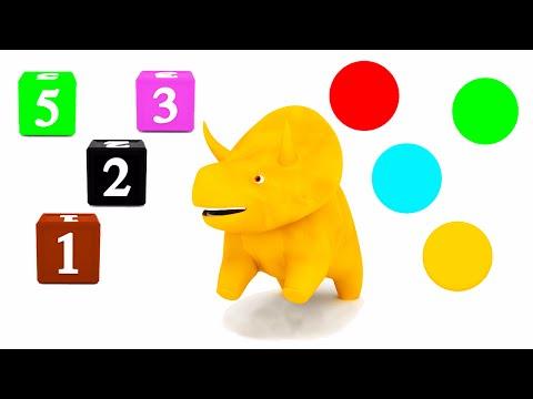 공룡 다이노와 함께 색깔 학습, 숫자 학습 | 아이 & 아기를 위한 교육 만화