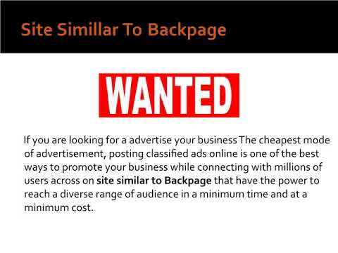 Site similar to backpage   Alternative to backpage   Sites like backpage