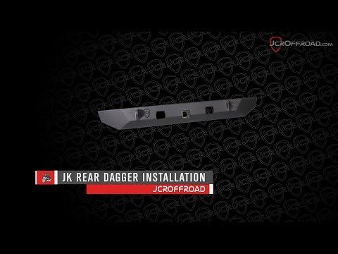 JcrOffroad - JK Wrangler Rear Dagger Installation