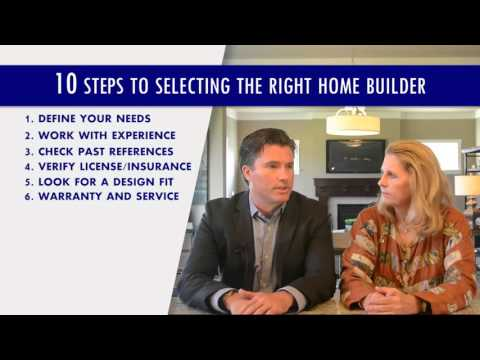 Allen Edwin Homes - Ten Steps to Selecting the Right Home Builder