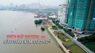 Tiến độ xây cầu Đảo Kim Cương tháng 10-2017