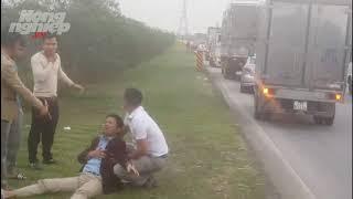 Tai nạn kép hi hữu trên cao tốc Hà Nội- Thái Nguyên