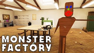 Crafting a monster in Woodworking Simulator | Monster Factory