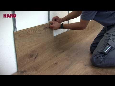 Montáž laminovanej podlahy na stenu.