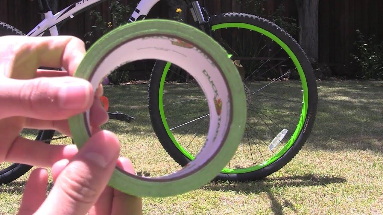 How To Neon Bike Rims Using Duck Tape Youtube