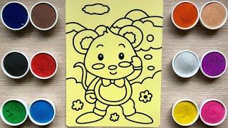 TÔ MÀU TRANH CÁT CON CHUỘT - Colored sand painting mouse toys - Đồ chơi Chim Xinh