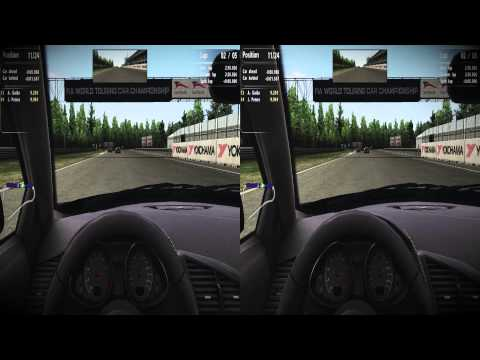 Sim Racing in 3D (GTR Evo, Audi R8@Brno single race)