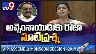 Roja on Pasupu Kumkuma scheme in AP Assembly..