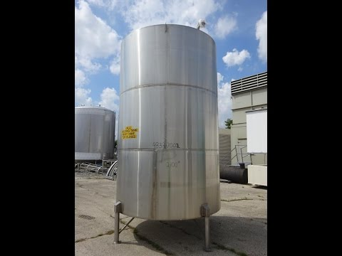 Used- Stainless Steel Metals Inc. Tank, Approximately 4,000 Gallon - stock # 48337002