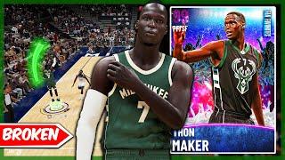 THE MOST GAME BREAKING CARD IN 2K! DARK MATTER THON MAKER GAMEPLAY! NBA 2k21 MyTEAM