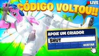 🔴 O CÓDIGO VOLTOU ⚠️ | OBRIGADO @Epic Games | Código: SHUT na loja do Fortnite #ad