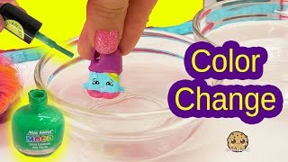 DIY Color Change Season 6 Shopkins with Nail Polish - Easy Do It Yourself Craft