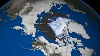 Dramatische Bilder von der Eisschmelze im Arktischen Ozean