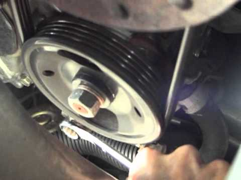 Changing Drive Belts on Nissan Quest 2006 - YouTube
