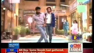 Hrithik Roshan shaking a leg with Prabhu Deva on Reliance Mobile.
