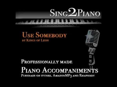 Baixar Use Somebody - Kings of Leon (Piano backing track) karaoke cover