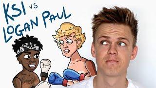 KSI VS. LOGAN PAUL FIGHT PREDICTION By Caspar Lee [Animation]