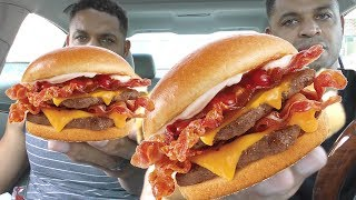 Eating Wendy's Son of Baconator @Hodgetwins
