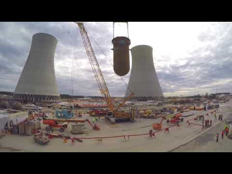The reactor vessel for Plant Vogtle Unit 3 was placed on November 23, 2016.  It is the first nuclear reactor vessel placed in the state of Georgia in more than 30 years.