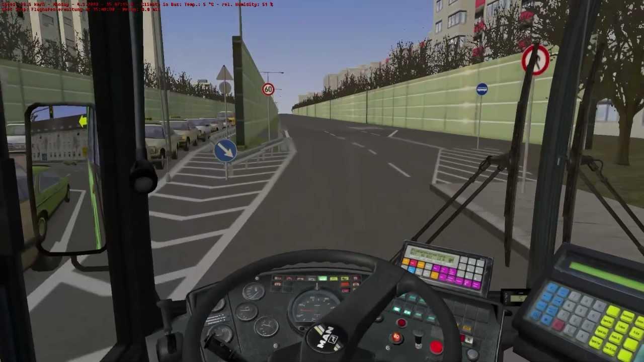 Omsi The Bus Simulator Spitterberg Line 17 Hd Youtube