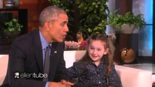Ellen Show Feb 12 2016 OBAMA Meets MACEY 5-Year Old PRESIDENTIAL EXPERT TODAY {VIDEO} HD 720p||!!_