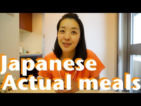 Japanese actual daily meals