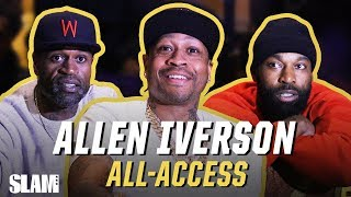 Allen Iverson, Baron Davis, & NBA Legends give FREE GAME to HS All Americans!