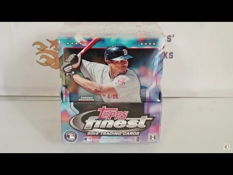 2014 Topps Finest Baseball Hobby Box Break! INSANE!