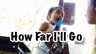 Two Year Old Baby Girl Sing Moana How Far I'll Go
