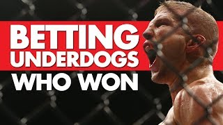 Betting Underdogs That Came Out On Top
