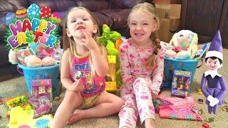 Happy Easter Morning & Egg Hunt - Purple Elf on the Shelf Returns!!