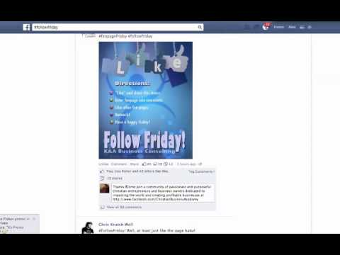 Increase Your Facebook Fanpage Likes With Follow Fridays