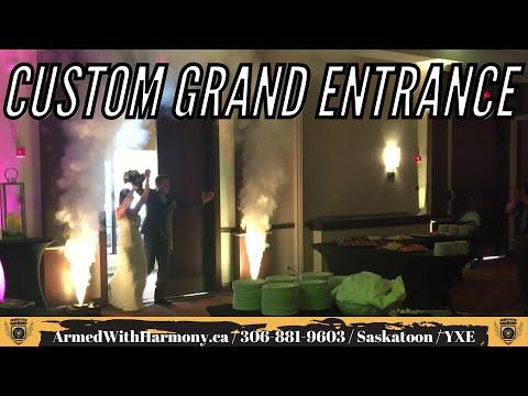Saskatoon Wedding DJ   Custom Themed Grand Entrance   Armed With Harmony