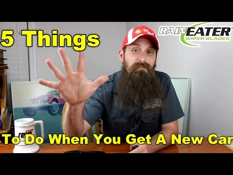 5 Things To Do When You Buy A New Car ~ Podcast Episode 75