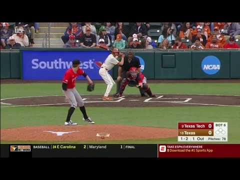 Texas Tech Baseball at Texas: Highlights (W, 3-0)   2019