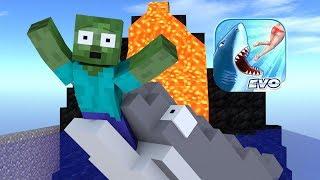 Monster School : Hungry Shark Evolution Challenge - Minecraft Animation