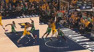 Kyrie Irving Turns Into LeBron James With Amazing Block! Celtics vs Pacers Game 3 2019 NBA Playoffs