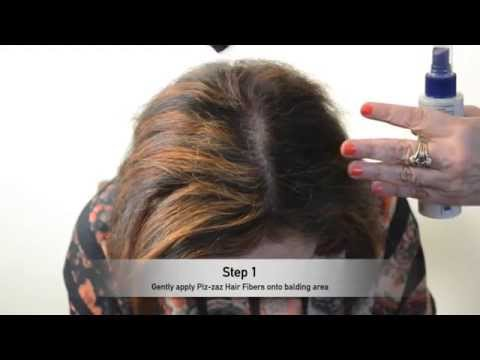 Piz-Zaz Hair Fibers - 100% Natural Man/Woman Formula