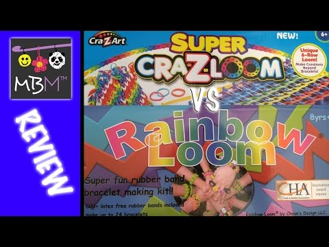 Comparing the Cra-Z-Art SUPER CRAZLOOM to the Rainbow Loom